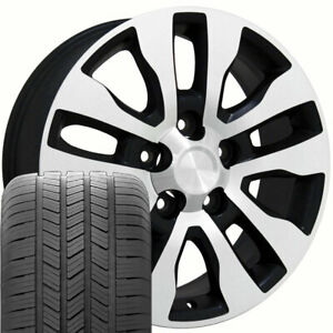 20 Wheel Tire Set Fit Toyota Tundra Style Black Mach D Rims Gy Tires 69533