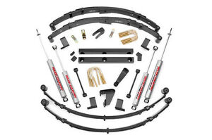 Rough Country 4in Jeep Suspension Lift Kit 87 95 Yj Wrangler Manual Steering