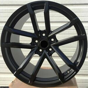 4 New 20 Black Rims Wheels For 2010 2011 2012 Ls Lt Rs Ss Zl1 Camaro 5661