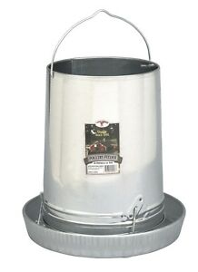 2 Pack Galvanized 30 Lb Farm duty Poultry Chicken Feeder Made In Usa