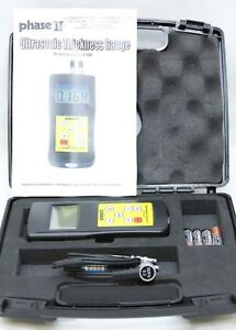 Phase Ii Utg 1500 Ultrasonic Wall Thickness Gauge W Case Mint Free Shipping