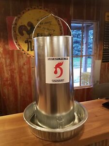 Duncans Poultry 50 Lb Galvanized Hanging Chicken Feeder Made In The Usa