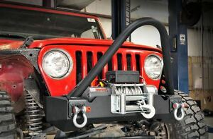 Rough Country 97 06 Jeep Tj Front Subby Winch Bumper W D ring Kit
