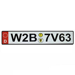 Front License Plate German European Plates For Front Of Car White Red Embossed