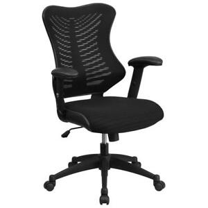 Executive Swivel Office Chair Computer Desk Seat Pu Task Padded Mesh High Back
