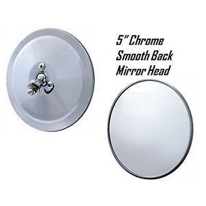 5 Chrome Smooth Exterior Door Round Rear View Mirror Head 1947 1972 Chevy Truck