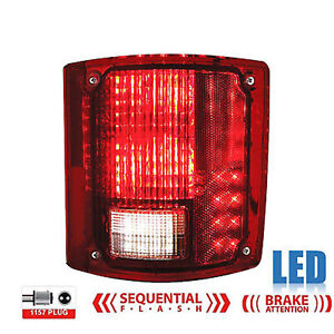 73 91 Chevy Gmc Truck Rear Rh Led Sequential Tail Turn Signal Brake Light Lens