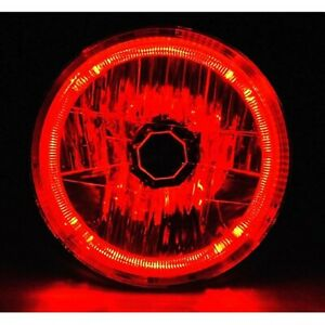 7 H6024 6014 Halogen Red Led Halo Ring H4 Light Bulb Angel Eye Headlight