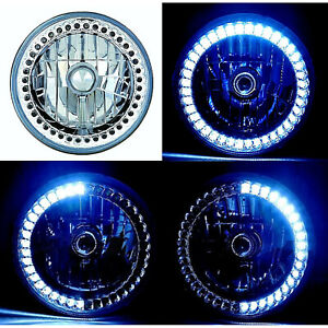 7 H6024 6014 White Led Angel Eye Ring Halo Headlight Blinker Turn Signa