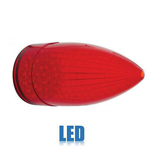 59 Cadillac Car Red Led Rear Tail Brake Light Lamp Lens Single 1959