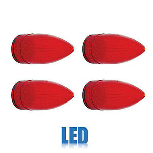 59 1959 Cadillac Car Red Led Rear Tail Brake Light Lamp Lenses Set Of 4