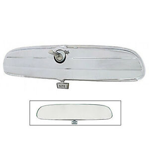 64 65 66 Ford Mustang Inside Chrome Glass Day Night Rear View Mirror