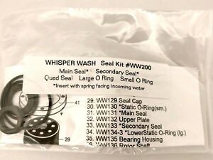Whisper Wash Ww200 Surface Cleaner Seal Kit Swivel Assembly Ww 200 For Ww 128
