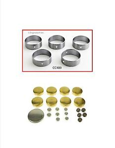 Enginetech Cam Bearings Set Ford 260 289 302 351w Brass Freeze Plugs