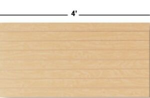 2 Slatwall Easy Panels 24 X 48 maple Finish