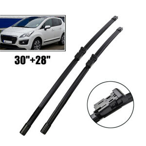 30 28 Front Windshield Wiper Blades For Peugeot 3008 2008 2016 2009 2010 2011