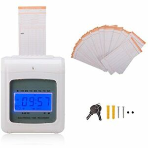 Time Card Racks Co z Electronic Employee Recorder Clock Punch For Small Business