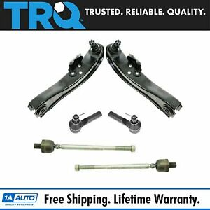 Trq Front Tie Rod End Ball Joint Control Arm Suspension Steering Kit Set 6pc New