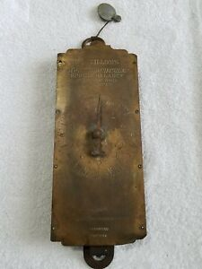 Antique Brass Milk Scale Chatillon S 30 Lbs Grocery Kitchen Scale