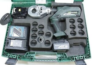 Greenlee Gator Esg50l Battery Hydraulic Wire Cable Cutter W 2 Battery