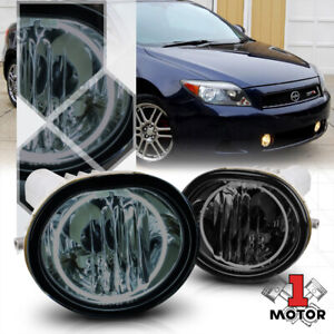 Smoke Tinted Ccfl Halo Ring Fog Light Bumper Lamp W harness For 05 10 Scion Tc