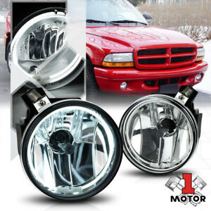 Crystal Clear Ccfl Halo Ring Fog Light W harness For 01 04 Dodge Dakota durango