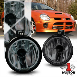 Smoke Tint Ccfl Halo Ring Fog Light Bumper Lamp W harness For 03 05 Dodge Neon