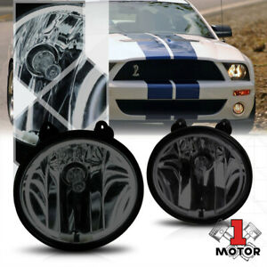 Smoke Tinted Ccfl Halo Ring Fog Light W harness For 07 14 Ford Mustang Shelby