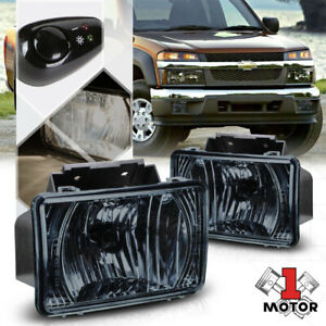 Smoke Fog Light Bumper Lamp W switch harness For 04 12 Chevy Colorado gmc Canyon