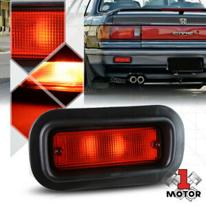 Red Rear Bumper Driving Fog Light Lamps For 94 01 Integra 88 00 Civic Del Sol