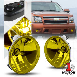 Yellow Fog Light Bumper Lamps W Switch Harness For 07 14 Chevy Silverado Sierra
