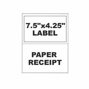 1000 Paypal Ebay Clicknship Shipping Labels W Tear Off Paper Receipt
