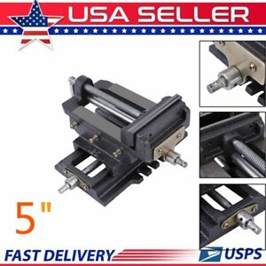 5 Cross Sliding Drill Press Vise Slide Vice Heavy Duty Machine Shop Tools Us Se