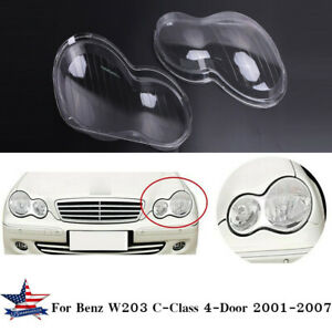 Pair Clear Front Headlight Lens Cover For Vw Mk5 Golf Gti Rabbit Jetta 06 09