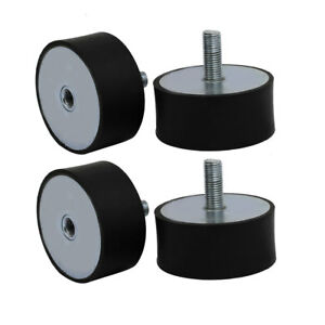 100mmx45mm M16 Male Thread Rubber Shock Absorber Vibration Isolator Mount 4pcs