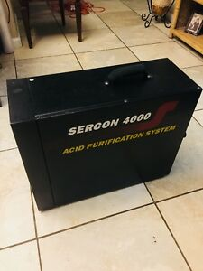 Sercon 4000 Acid Purification System Recycle Recover Refrigerant Recovery