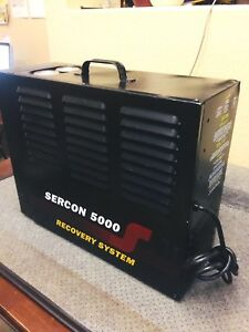 Sercon 5000 Acid Purification System Recycle Recover Refrigerant Recovery