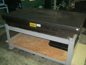 Doall Granite Surface Plate 36 x 60 x 8 W stand