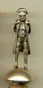 Russian Antique Imperial Figurine For Bottle Sterling Silver Napoleon 2247