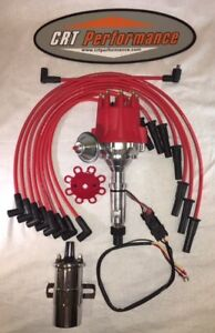 Small Cap Buick Nailhead 322 400 401 425 Red Hei Distributor 45k Coil Wires