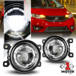 Crystal Clear Lens 3 5 round Led Projector Fog Light Replacement Oe Bumper Lamps