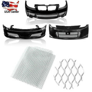 Silver Universal Aluminum Car Vehicle Body Grille Net Mesh Grill Section 40 X13