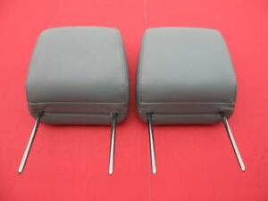 05 06 07 08 09 Ford Mustang Front Left Right Seat Gray Head Rest Headrest Set 2