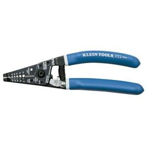 Klein Tools 11054 Wire Stripper cutter W Solid Stranded Wire Curved Handles