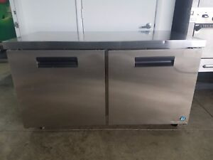 Hoshizaki Crmr60 two Section Undercounter Refrigerator Stainless Doors