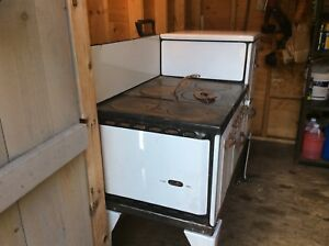 Antique 1920 S Kitchen Stove Wood Burning Lp Gas Make Wedgewood