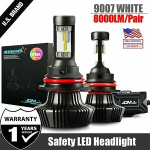 Jdm Astar 8th 8000lm 9007 hb5 Led Headlight Hi Low Bulbs White For Nissan Suzuki