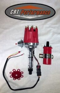 Small Cap Buick Nailhead 322 400 401 425 Red Hei Distributor 45 000v Coil Red