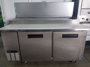 2017 Hoshizaki Cpt67 67 Pizza Prep Table W Refrigerated Base 115v