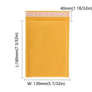 100 200 300 500 650 5x7 Kraft Bubble Padded Envelopes Mailers Self seal Bags